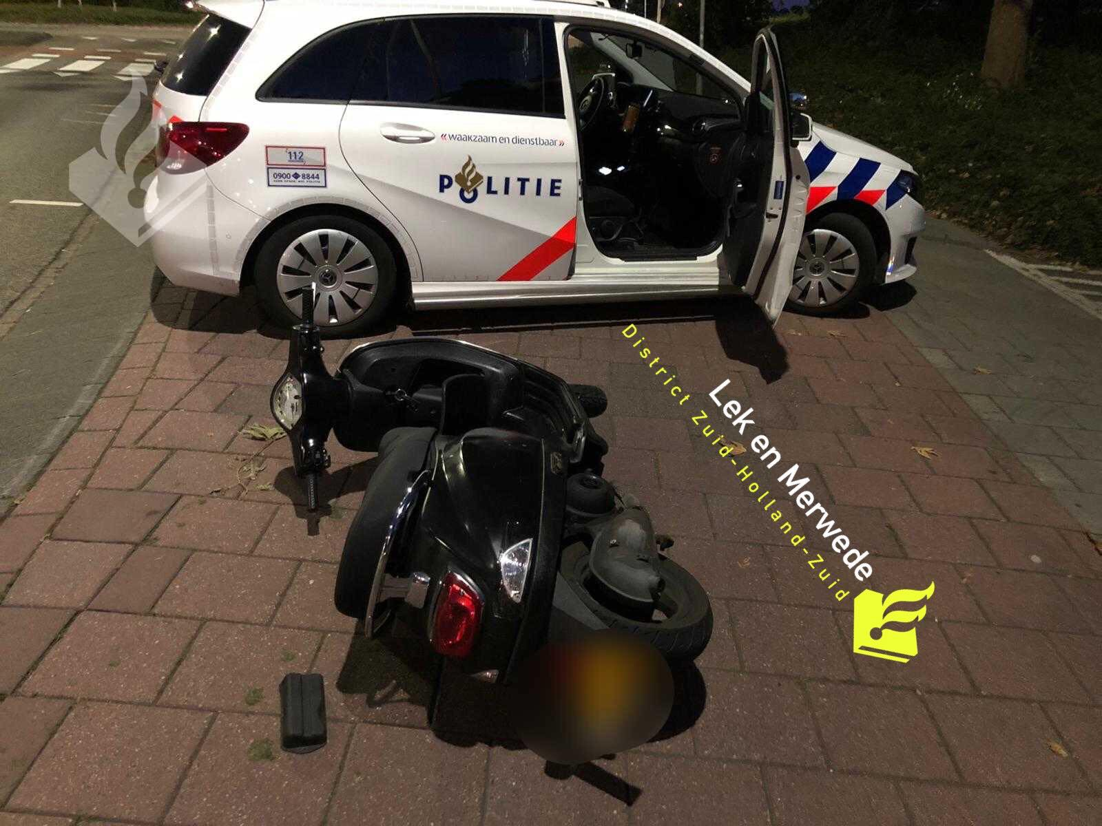 Achtervolging van een scooter met gestolen kenteken