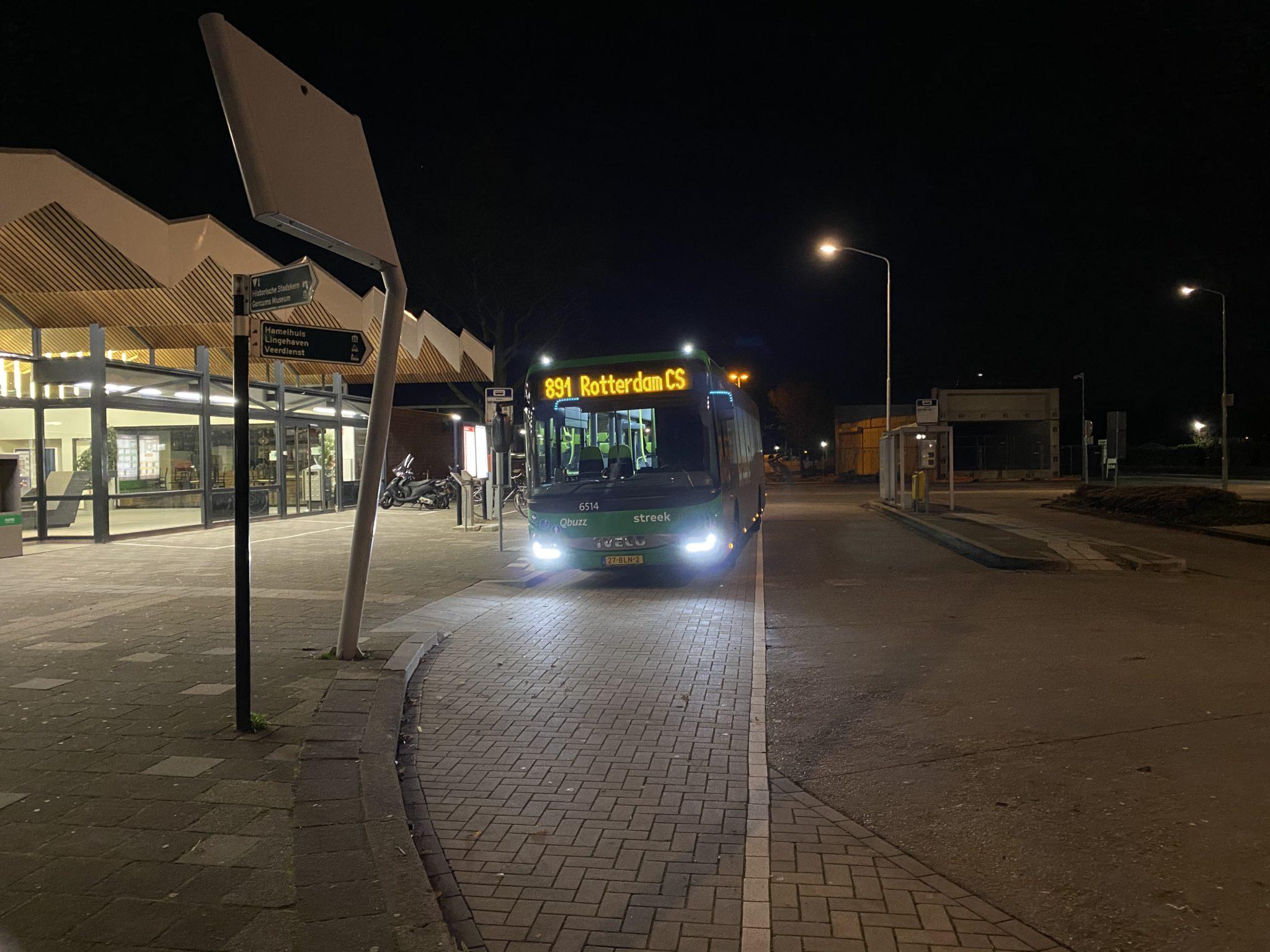 Buslijn 891 maakt nachtleven van Rotterdam toegankelijk