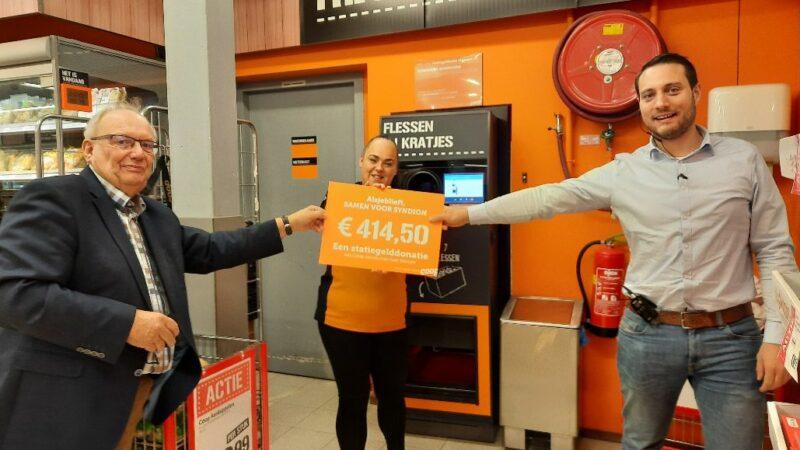Statiegeldactie Coop levert  414,50 euro op voor Syndion