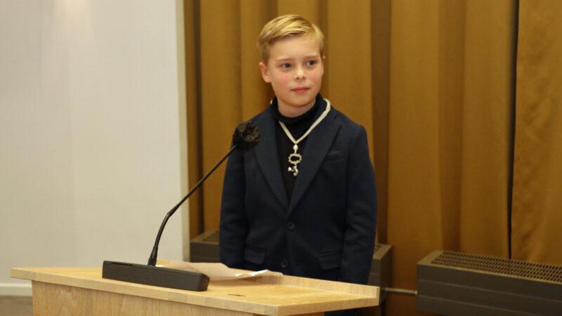 Samuël Heule geïnstalleerd als eerste kinderburgemeester van Gorinchem