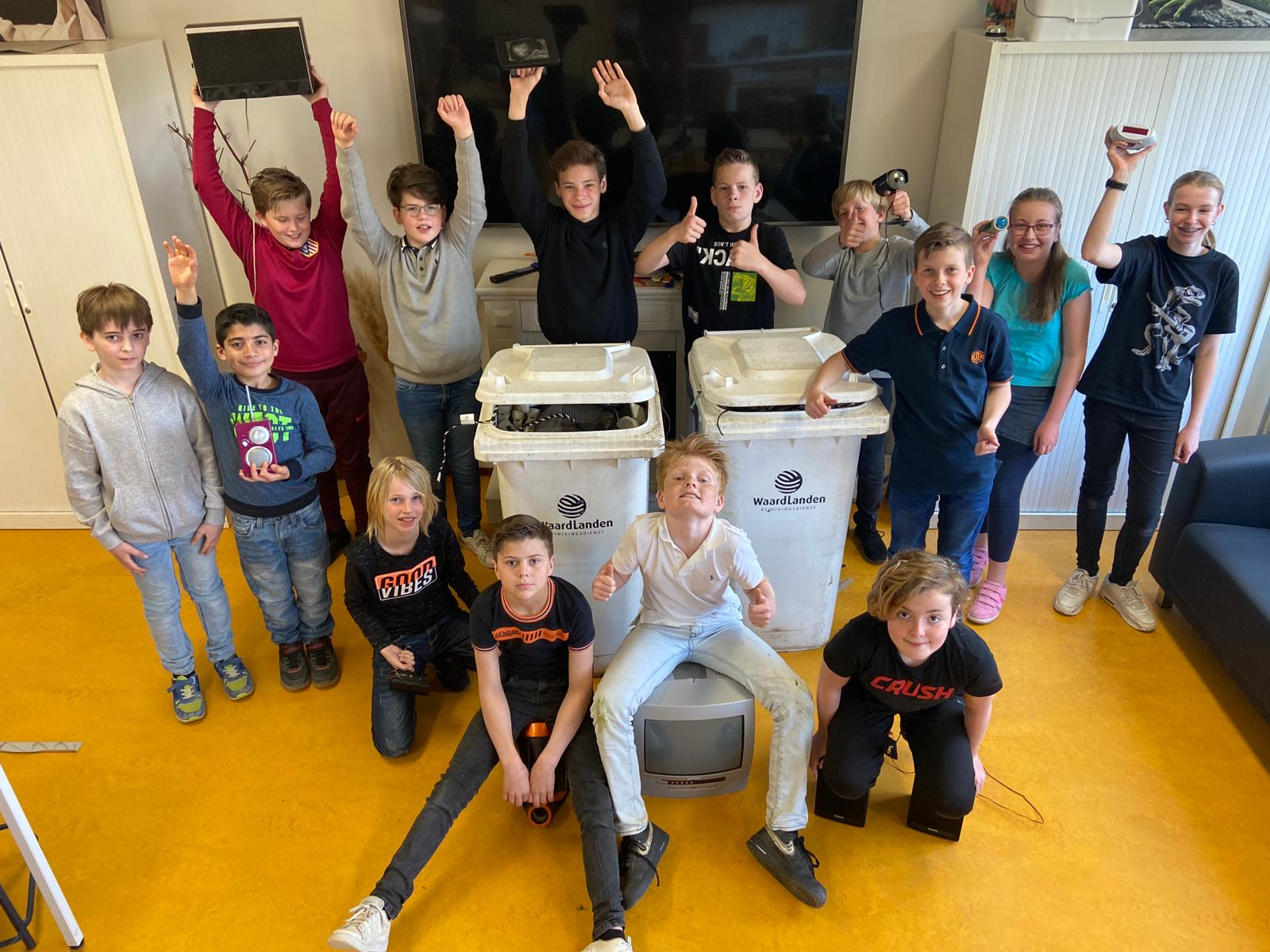 Succesvolle scholenstrijd tegen elektronisch afval