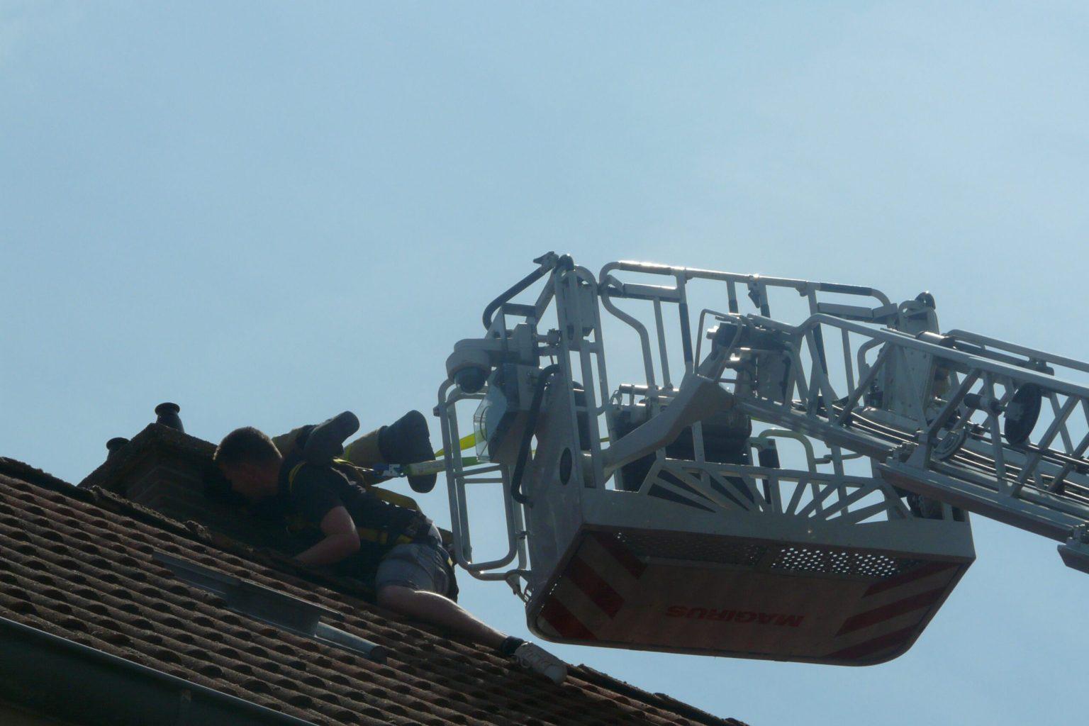 Brandweer rukt uit voor kat in schoorsteen in Gorinchem